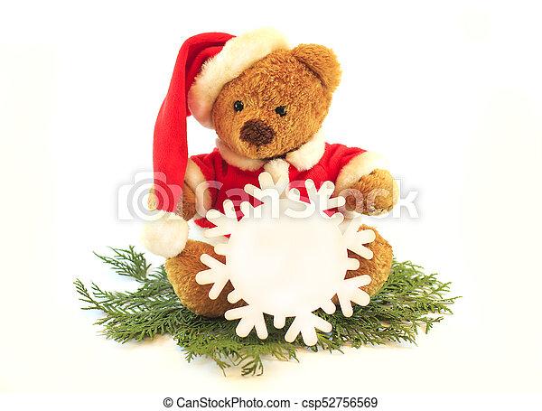 29ded0c7b5b4b Toy teddy bear wearing santa hat