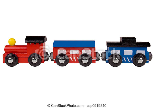 Toy wood train - csp0919840