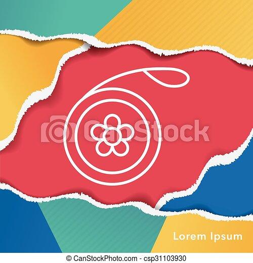 toy yo-yo icon - csp31103930