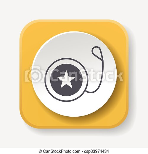 toy yo-yo icon - csp33974434