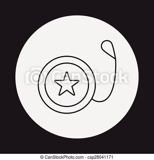toy yo-yo icon - csp28041171