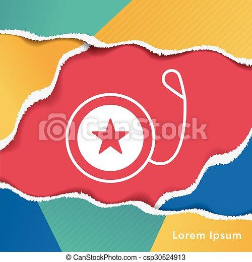 toy yo-yo icon - csp30524913