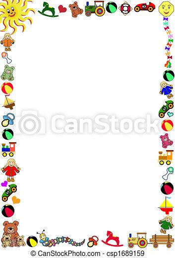 toys border - csp1689159