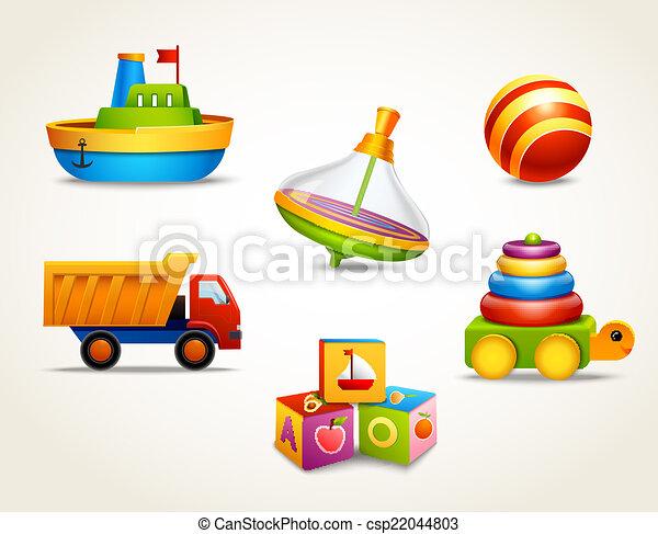 Toys icons set - csp22044803