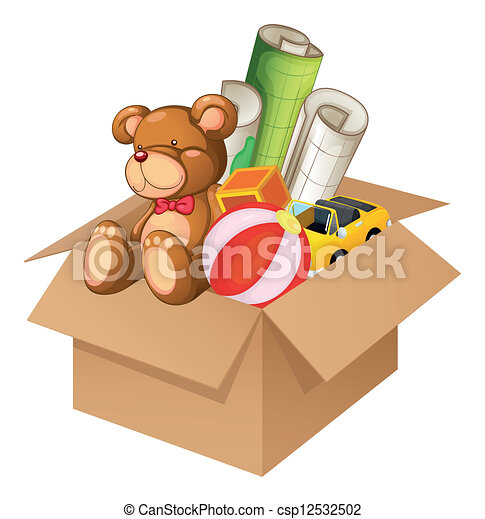 Toys in a box - csp12532502