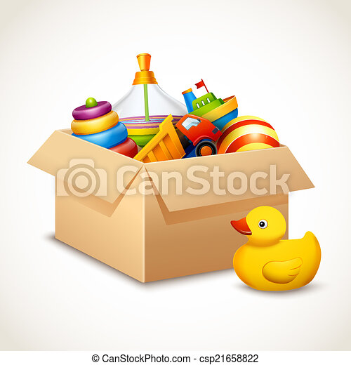 Toys in box - csp21658822