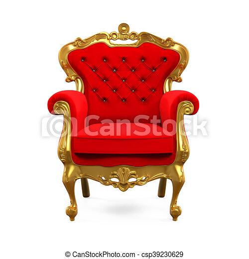 Bien-aimé Clipart de trône, roi, chaise - trône, roi, render, isolé  PO45