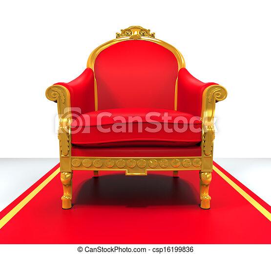 Bien-aimé Dessins de trône, roi, chaise - trône, roi, render, isolé  PO45