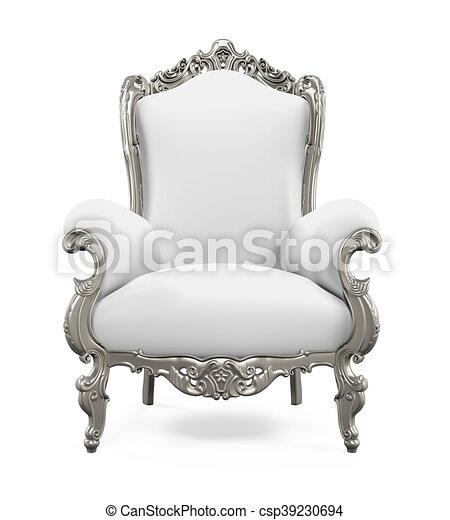 Bien-aimé Illustration de trône, roi, chaise - trône, roi, render, isolé  PO45