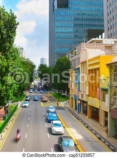 El tráfico en Singapur - csp51233857