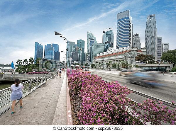 El tráfico en Singapur - csp26673635