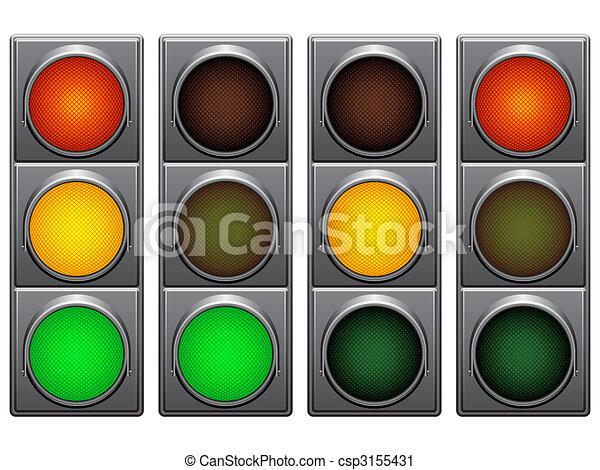 Luces de tráfico. - csp3155431