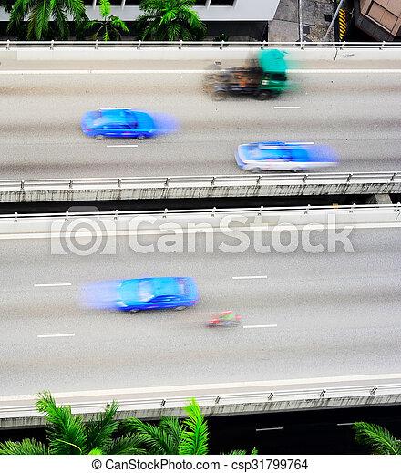El tráfico rápido de Singapur - csp31799764
