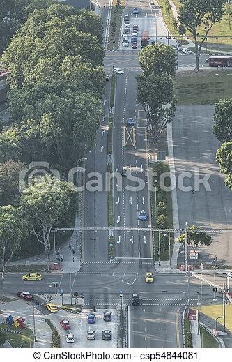 Tráfico en Singapur. - csp54844081