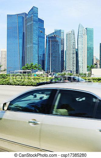 El tráfico de Singapur - csp17385280