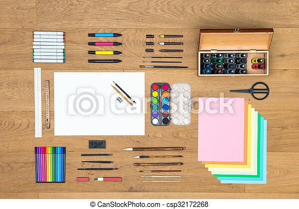 trä, yta, design, bakgrund, konster, teckning - csp32172268