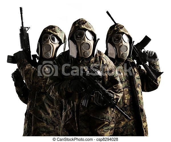 träd, beväpnat, tjäna som soldat - csp8294028