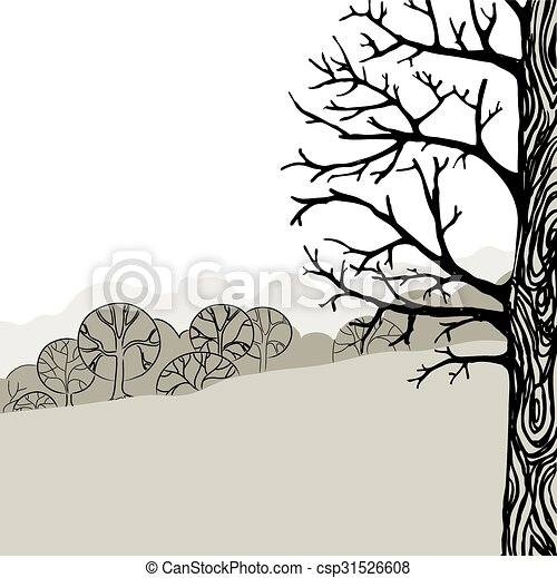 träd, illustration - csp31526608