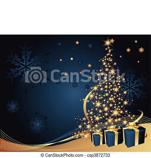 träd, jul, bakgrund - csp3872733