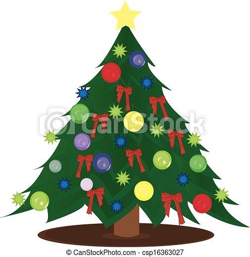 träd, jul - csp16363027