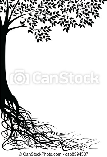 träd, silhuett - csp8394507