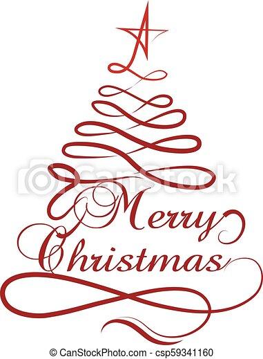 träd, vektor, design, jul, isolerat - csp59341160