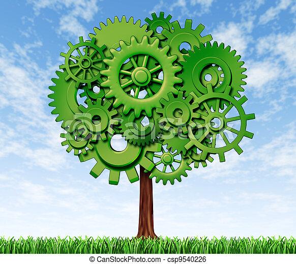 træ, økonomi - csp9540226