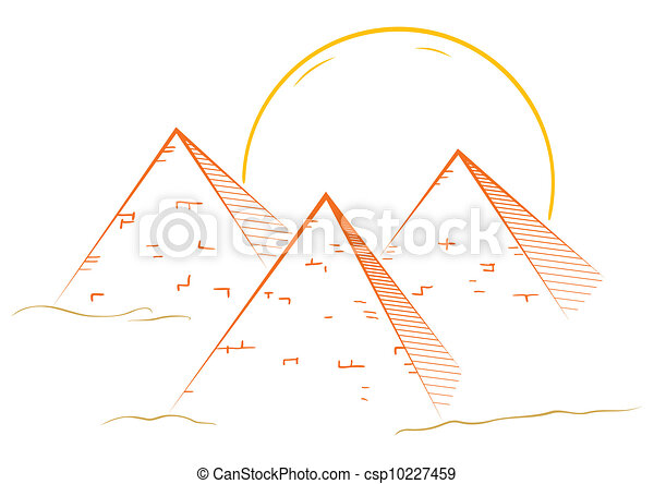 Tres Piramides Egito Famosos Grande Ilustracao Piramides