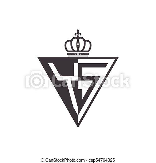 trójkąt, początkowy, dwa, czarnoskóry, litera, pół, logo - csp54764325