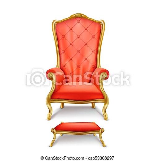 trône, style, luxueux, réaliste, vecteur, rouges - csp53308297