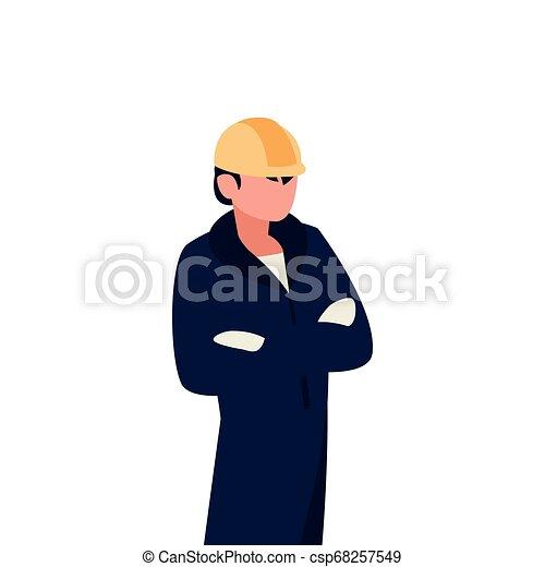 Personaje de avatar trabajador mecánico - csp68257549