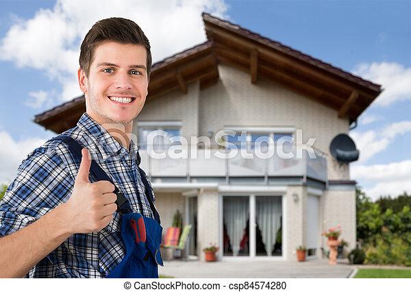 trabajador, comerciante, construcción - csp84574280