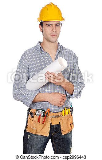 Trabajador de construcción - csp2996443