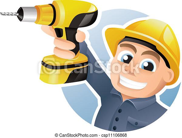 Trabajador de construcción - csp11106868