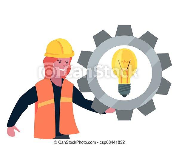 Equipo de obreros de construcción femenino - csp68441832