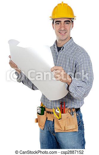 Trabajador de construcción - csp2887152