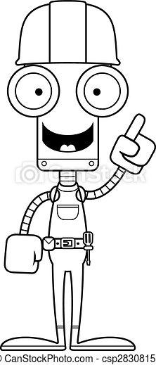 Idea de robot trabajador del cartón - csp28308158