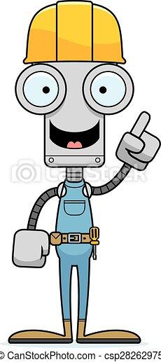 Idea de robot trabajador del cartón - csp28262975