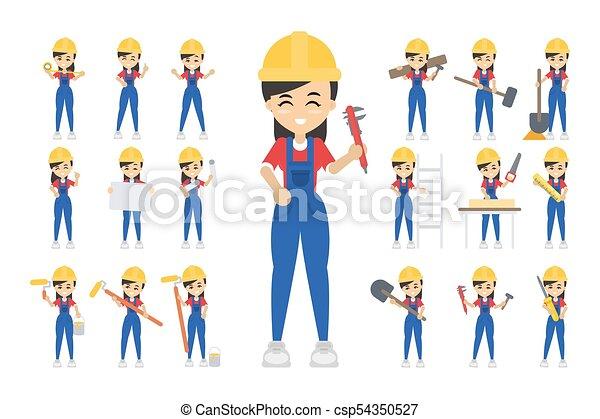 Trabajo de construcción. - csp54350527