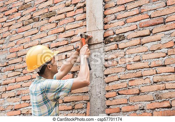 Trabajador de construcción - csp57701174