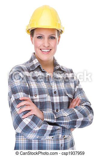 Trabajador de la contrucción (mujer) - csp1937959