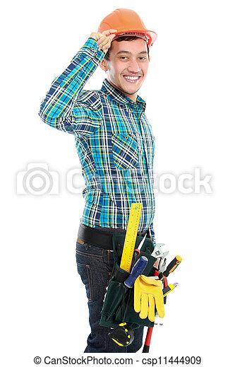 Feliz trabajador - csp11444909