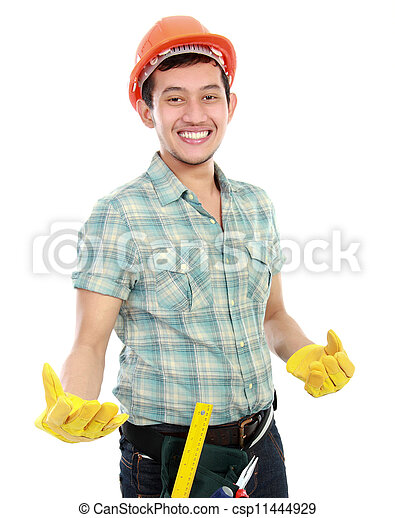 Feliz trabajador - csp11444929