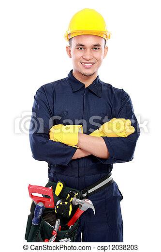 Trabajador industrial - csp12038203