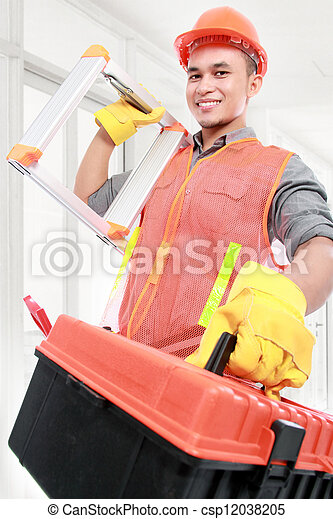 Trabajador industrial - csp12038205