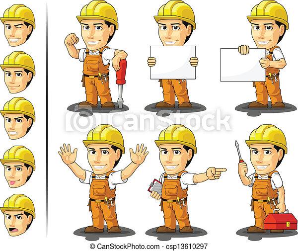 Masc trabajador industrial - csp13610297