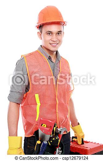 Trabajador industrial - csp12679124