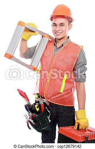 trabajador industrial - csp12679142