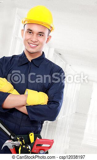 trabajador industrial - csp12038197