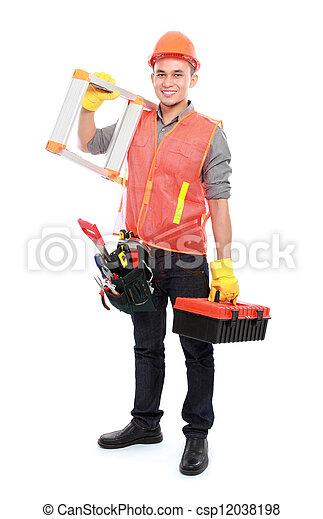 Trabajador industrial - csp12038198
